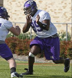 TCU is hoping Braylon Broughton can fill a void on the defensive line with the departure of Jerry Hughes to the NFL.