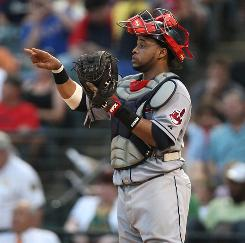 Indians catcher Carlos Santana has the team's third-highest batting average (.284) and is a rookie-of-the-year candidate. Cleveland likely will look to unload some veterans.