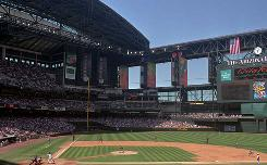 Chase Field in Phoenix, then called Bank One Ballpark, opened in 1998.