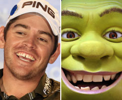 """My friends say I look like Shrek,"" Oosthuizen says, because of the gap in his teeth."