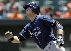 Rays' Evan Longoria hit his 14th home run and drew a bases-loaded walk in the sixth against the Orioles.