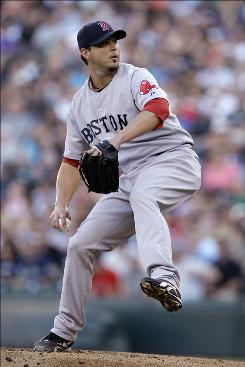 Red Sox starter Josh Beckett allowed five hits and one run, striking out five in 5 2/3 innings in his first appearance since coming off the disabled list.
