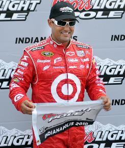 Juan Pablo Montoya's speed of 182.278 mph gave him the pole for Sunday's Brickyard 400, a race he led for 112 of 160 laps last season.