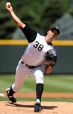 Rockies' ace Ubaldo Jimenez held the Pirates to one run on four hits over seven innings to win his 16th game.