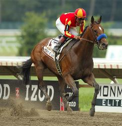 Lookin At Lucky, with Martin Garcia riding, won the $1 million Haskell Invitational to give Hall of Fame trainer Bob Baffert his fourth career win in the event.