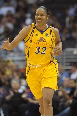 Tina Thompson, who's approaching Lisa Leslie's career scoring record, is more proud of her longevity and it's reflection on the league. Thompson is the only original player left from the WNBA's inaugural season in 1997.