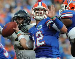 John Brantley takes over under center for the University of Florida this season, following in the footsteps of Gator legend Tim Tebow.