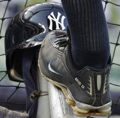 The left foot and ankle of Alex Rodriguez are hurting after the Yankees third baseman absorbed a batting-practice shot before Saturday's game against the Red Sox. A-Rod missed the game then returned to the lineup on Sunday.