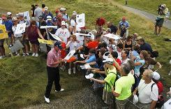 Fans at Whistling Straits clamor for the autograph of Wisconsin native Steve Stricker, the No. 4 player in the world still chasing his first major title.