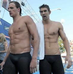 Ryan Lochte, left, beat Michael Phelps in the 200-meter individual medley on Aug. 6 at the U.S. championships for his first major win against Phelps in an IM event.