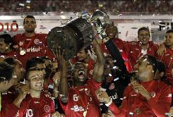 Brazilian club Internacional celebrates winning its second Copa Libertadores title as Latin America's top club team.