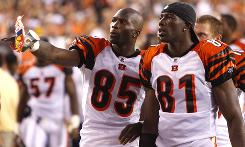 Cincinnati wide receiver Chad Ochocinco (left) is sharing the field with Terrell Owens, who joins his fifth team. The duo gives Bengals fans reason to believe this could be a Super Bowl season.