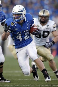 Senior running back Jared Tew led Air Force with 970 yards rushing in 2009 and scored nine touchdowns.