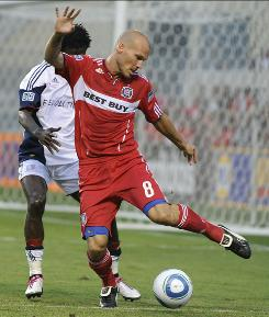 Freddie Ljungberg, right, has three assists in four games since joining the Chicago Fire, who are fighting to make the MLS playoffs.