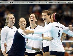 Three-time defending defending national champion Penn State will put its 102-match winning streak on the line in the season-opener Friday against North Carolina.
