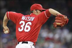 Rangers starter C.J. Wilson improved to 6-0 witha 2.29 ERA in eight starts since the All-Star break.