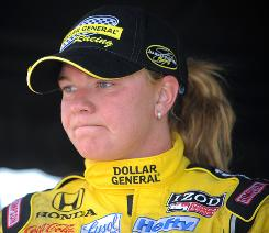 Sarah Fisher, the IndyCar Series' lone driver-owner, faces an uncertain future in terms of money for her team and sponsorship.
