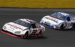 The ongoing feud between drivers Brad Keselowski (22) and Carl Edwards (60) have been a boon for Nationwide Series television ratings, which in turn have been a boon for Nationwide insurance.