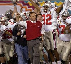 Ohio State coach Jim Tressel and the Buckeyes celebrated when they beat Miami (Fla.) to win the national championship in 2002. No school from the north done it since.