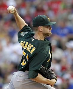 Oakland starter Dallas Braden limited one of the toughest lineups in the American League to just four hits and no walks.