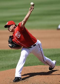 Nationals starter John Lannan allowed one run in 7.2 innings and doubled in two runs against the Cardinals.