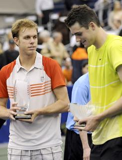 Sam Querrey, left, and John Isner are close friends, Davis Cup teammates, occasional doubles teammates and collectively the USA's best hopes in the next generation to claim a major title.