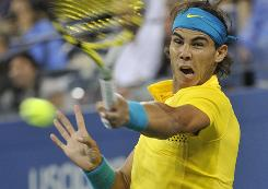 Rafael Nadal of Spain is among the most physical players in tennis, often pounding opponents into submission with big topspin groundstrokes and great defense. Nadal has struggled with tendinitis in his knees in recent years.