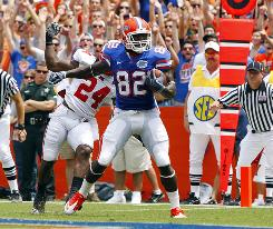Florida wide receiver Omarius Hines caught a touchdown in the first half against Miami (Ohio)