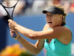 Maria Sharapova of Russia, the 2006 champion, breezes past 18-year-old American Beatrice Capra in the third round of the U.S. Open on Saturday in New York. Sharapova won 6-0, 6-0 and will face top seed Caroline Wozniacki in the Round of 16.