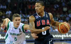Bulls guard Derrick Rose leads the offense for Team USA, which has played uneven at times.
