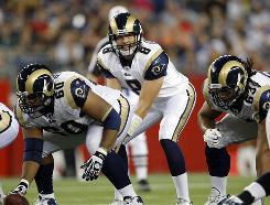 The Rams are starting Sam Bradford this season after selecting him first overall in April's draft.
