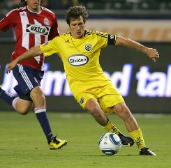 Guillermo Barros Schelotto has been in the middle of the Columbus Crew's recent succes since coming to MLS in 2007. Schelotto was the league MVP in 2008 as the Crew won the MLS Cup.