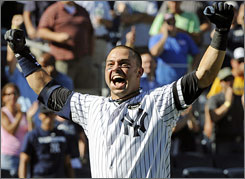 Yankees' Nick Swisher hit his 26th home run of the season and his third career game-ending shot.