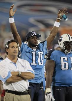 After some setbacks, things are looking up for Titans quarterback Vince Young.