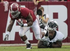 Alabama running back Trent Richardson performed admirably in place of the injured Mark Ingram, rushing for 144 yards.