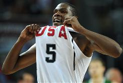 Kevin Durant scored a Team USA record 38 points against Lithuania to give the Americans their first shot at a world title since 1994.
