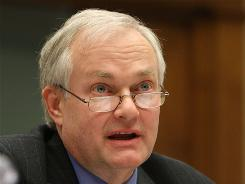 Donald Fehr, addressing a Congressional hearing on Feb. 27, 2008, was formerly the executive director of the Major League Baseball Players Association.