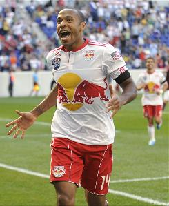 French forward Thierry Henry scored his second MLS goal to help the New York Red Bulls beat the Colorado Rapids and edge closer to a playoff spot.