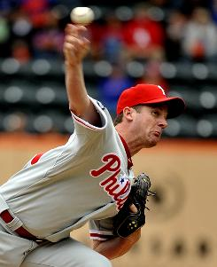 Roy Oswalt is undefeated in his past eight starts and improved to 6-1 since coming to Philadelphia in a trade from Houston in late July.