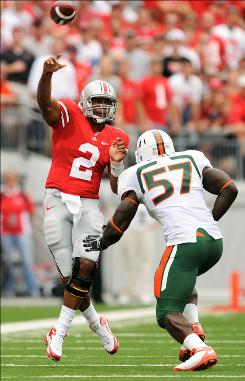 Ohio State quarterback Terrelle Pryor led the No. 2 Buckeyes to a 36-24 win over Miami.