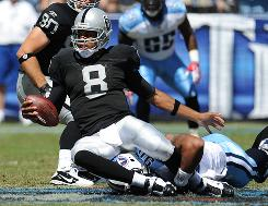Raiders QB Jason Campbell lost his Oakland debut in Tennessee on Sunday.