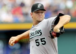 Marlins ace went 11-6 with a career-best 2.30 ERA in 2010 but will not not pitch the remainder of this season because of back pain.