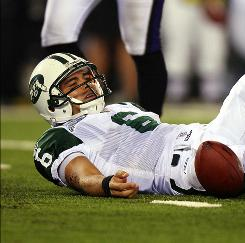 The Ravens battered Mark Sanchez and the Jets, limiting the New York offense to just 176 total yards, six first downs and three Nick Folk field goals. Sanchez had 74 yards passing.