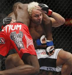Josh Koscheck, right, here against Anthony Johnson in November 2009, has developed a reputation as being an instigator.