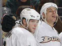 Bobby Ryan, left, will have a cap hit of $5.1 million, slightly less than Ducks stars Ryan Getzlaf, right, and Corey Perry.