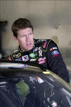 Over the last 10 races, no driver has more points than Carl Edwards, shown here on June 12.