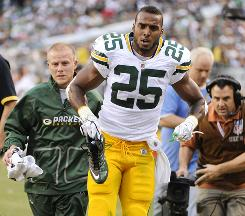 Packers RB Ryan Grant suffered an ankle injury in Week 1 that will keep him out for the rest of the season.