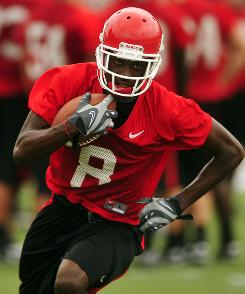 Georgia WR A.J. Green, practicing on Aug. 2, sold his Independence Bowl game jersey for $1,000 to a person deemed to be an agent.