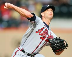 Braves pitcher Tim Hudson allowed two runs on six hits in seven innings of work to help Atlanta beat the Mets. Hudson snapped a three-start losing streak with his 16th victory of the season.