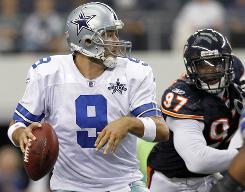 Tony Romo and the Cowboys fell to 0-2 with a loss to the Bears on Sunday.